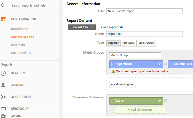 Creating Custom Reports On Google Analytics