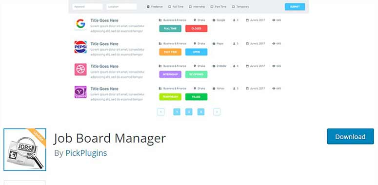 Job Board Manager
