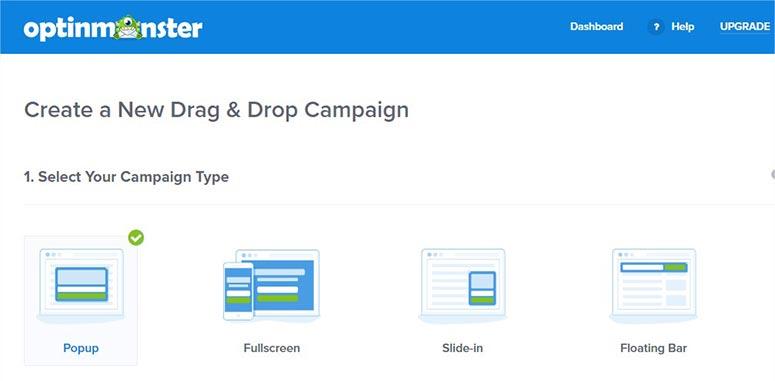 Select a campaign