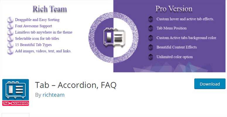 Tab – Accordion, FAQ