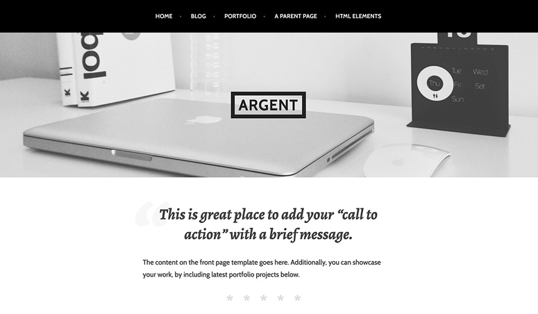 argent-wordpress-theme