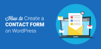 create contact form on wordpress