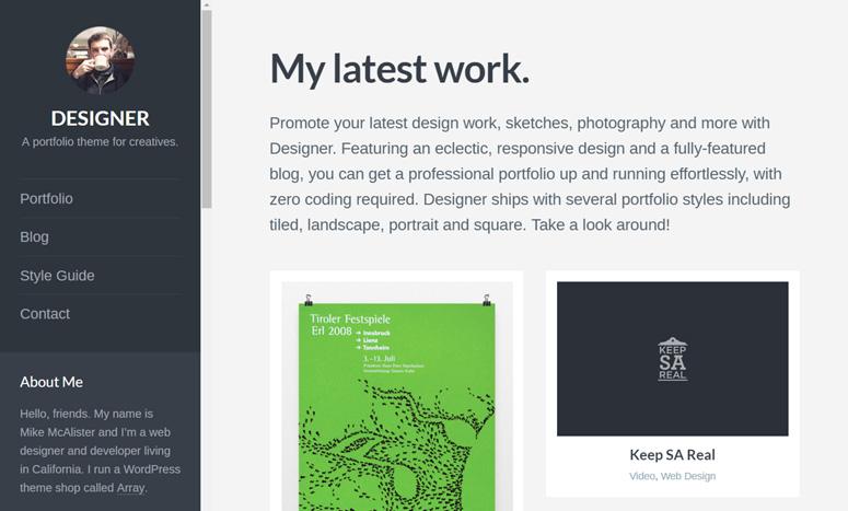 designer-wordpress-resume-theme