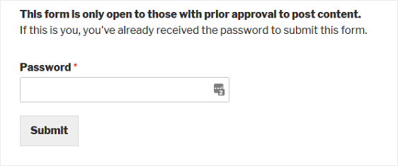 final password protected form