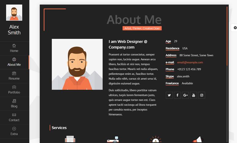resume-cv-vcard&portfolio-wp-theme
