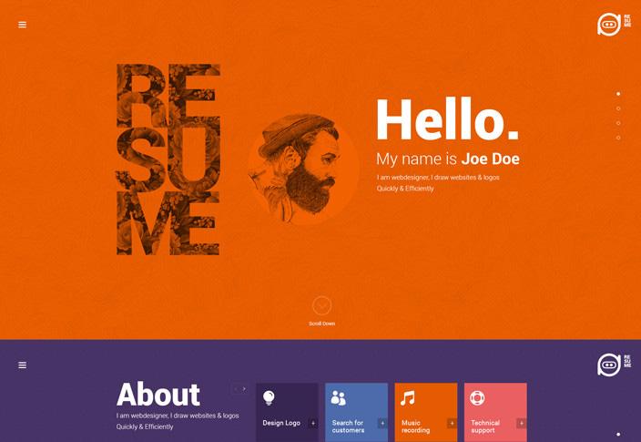 resume-tesla-themes-template