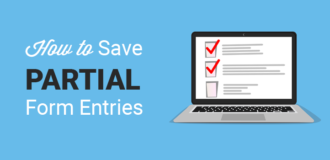 how to save partial form entries