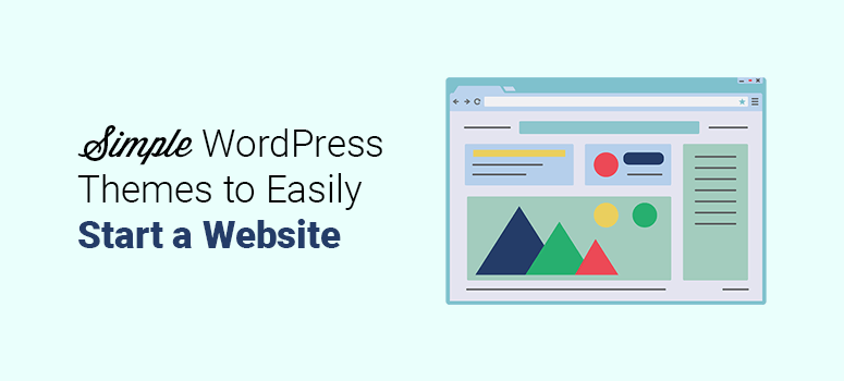 simple wordpress themes to easily start a website