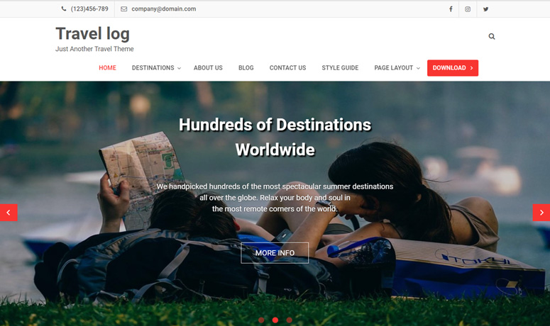 travel-log-wordpress-theme