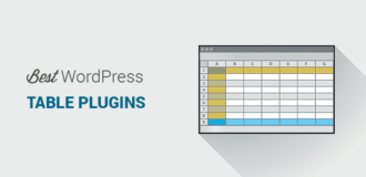 Best WordPress table plugins