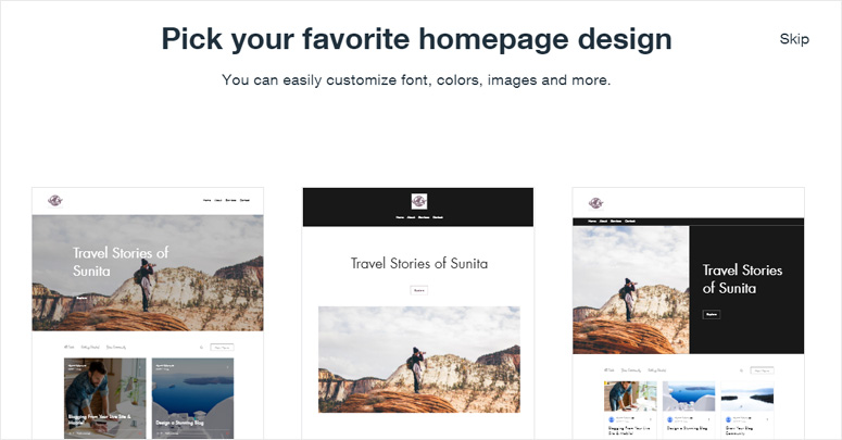 choose-homepage-theme-wix