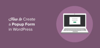create a popup form