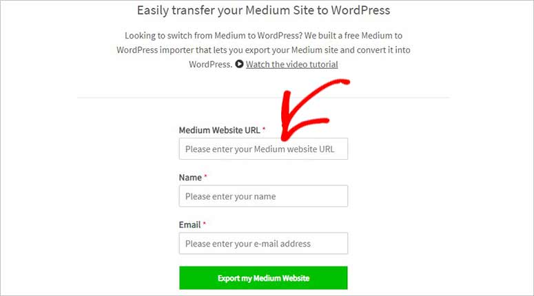 Medium to WordPress tool