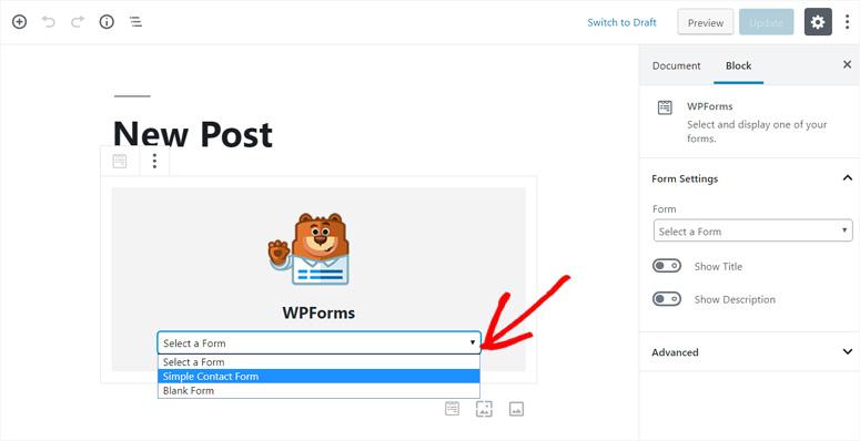 select-form-wpforms