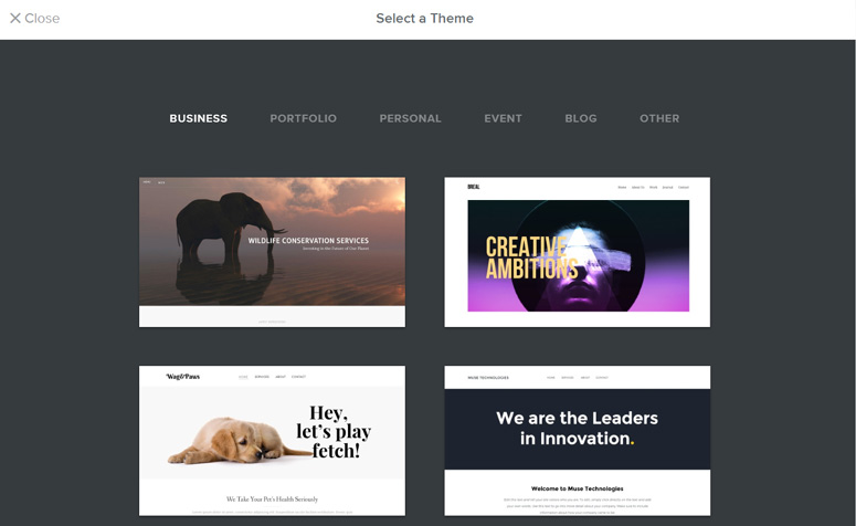 select-theme-weebly