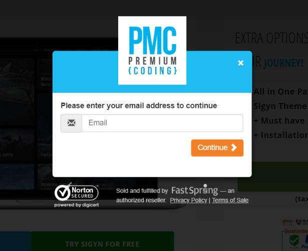 PremiumCoding popup