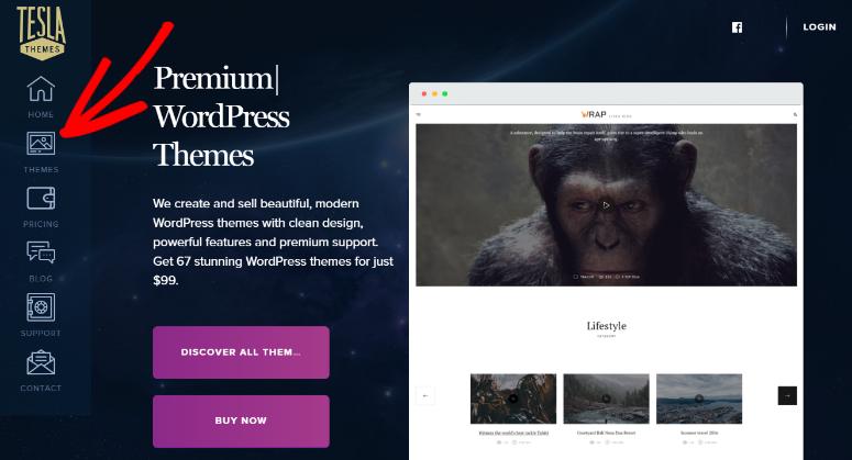 TeslaThemes homepage