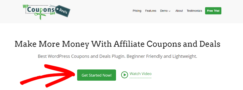 WP Coupons and Deals Get Started