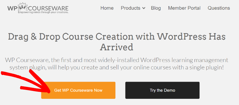 WP Courseware homepage
