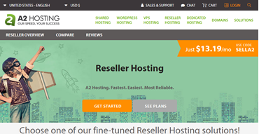 a2 hosting reseller