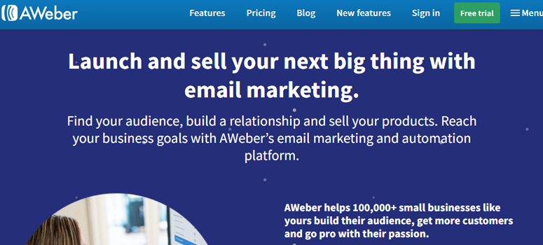 Aweber Offers more templates than Mailchimp