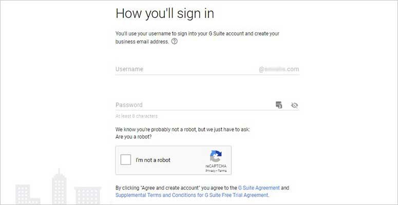 Enter username