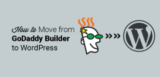 how to move from godaddy builder to wordpress