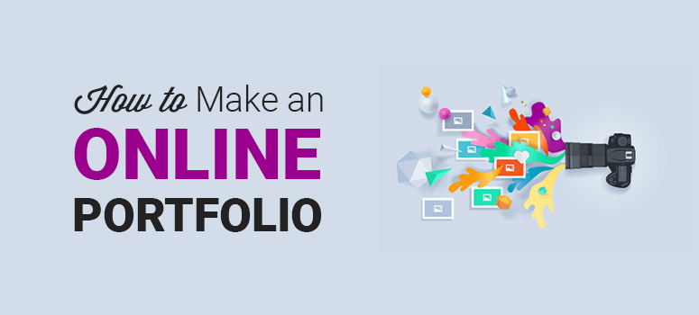 How to make an online portfolio