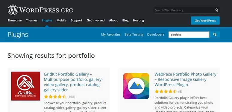 Portfolio plugins