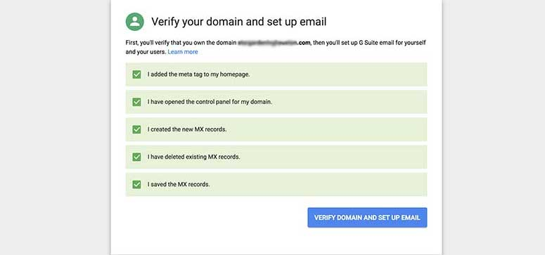 Verify domain name