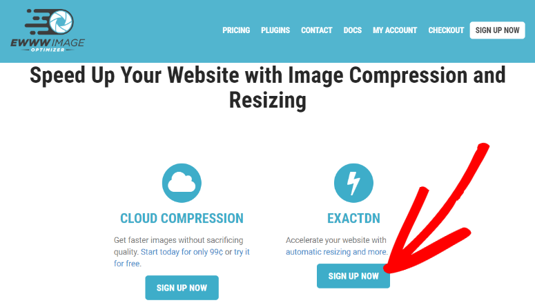 EWWW Image Optimizer homepage