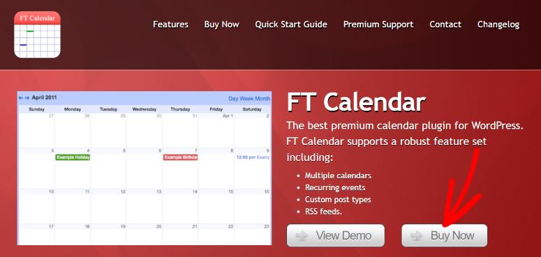 FT Calendar homepage