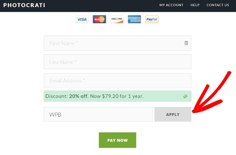 Photocrati discount code