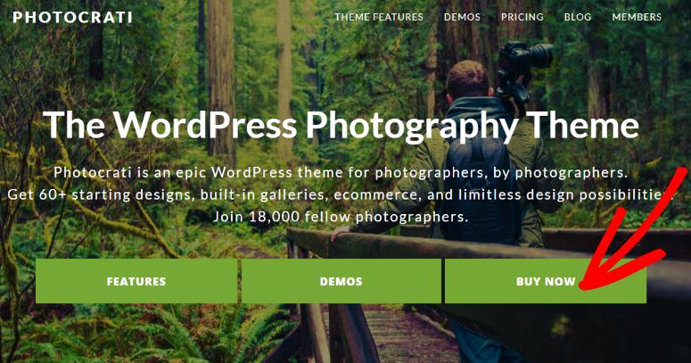 Photocrati homepage