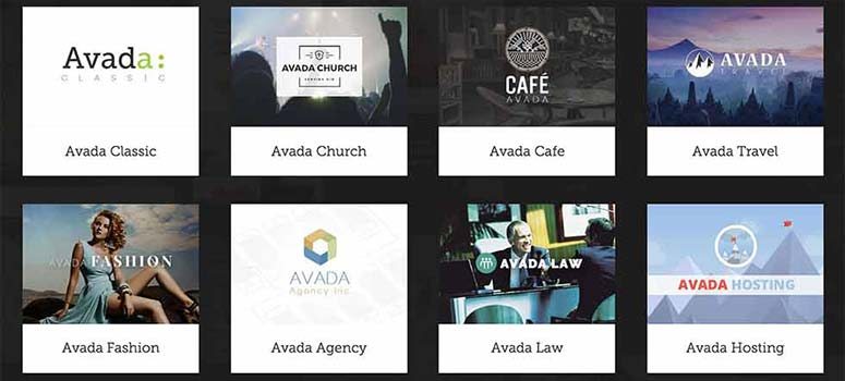 Avada designs and layouts