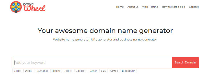 domainwheel-blog-name-generator