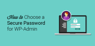 how to choose a secure password for wp admin
