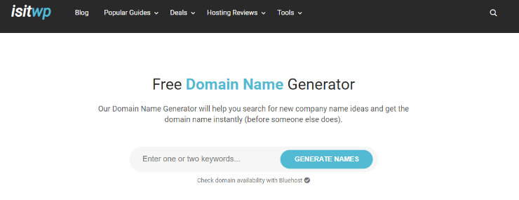 isitwp-domain-name-generator