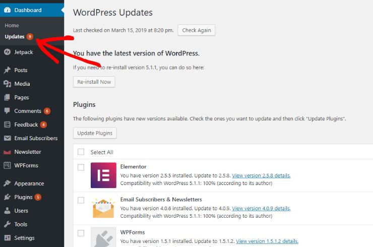 keep-wordpress-updated