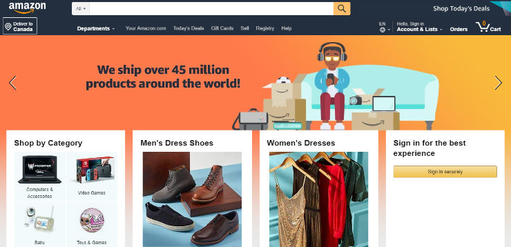 making amazon ecommerce website