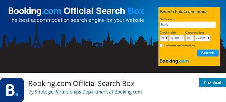 Booking.com search box