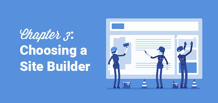 choosing a website builder for starting a site