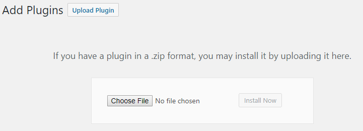 choose file for uploading