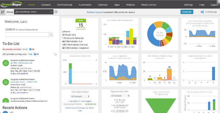 greenrope-crm-dashboard