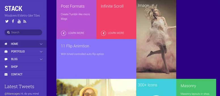 Stack, wordpress themes for graphic designers