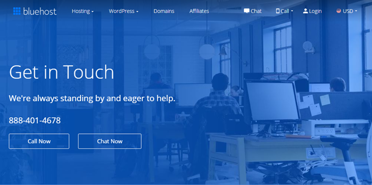 Assistenza clienti Bluehost