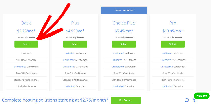 Bluehost-pricing-basic-plan