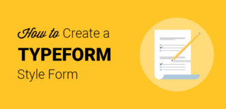 Create a TypeForm style form in WordPress