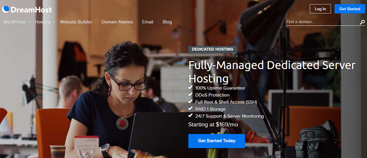 dreamhost dedicated server hosting review