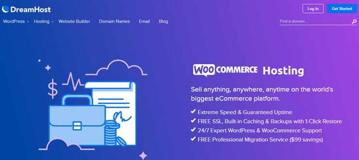 dreamhost woocommerce hosting review